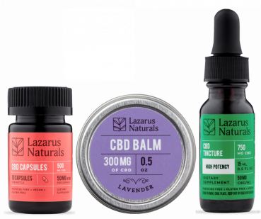 Lazarus Naturals CBD products for Cannabis Packaging Article