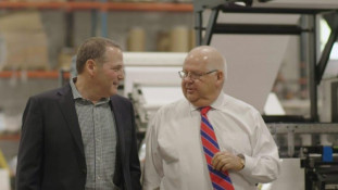 William Drori, president, Tamperguard, and Francois Bayzelon, CEO, ETI Converting Equipment.