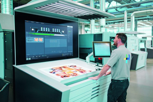 The Heidelberg Prinect Press Center provides a user-friendly interface and helps drive automation processes in print production.