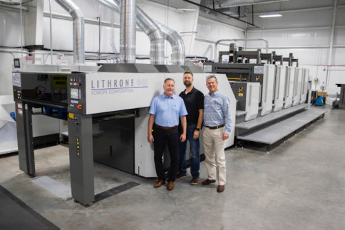 Slate Group Purchases Five-Color Komori Lithrone G40 Press, LED UV Curing System