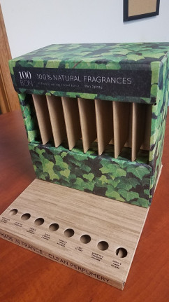 A corrugated display from Sutherland Packaging.