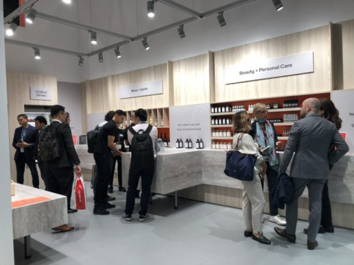 "At Labelexpo 2019, Avery Dennison's booth showcased a ""Connected Store,"" which featured an interactive shopping environment."