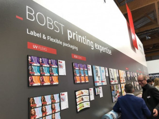 Bobst showed off a variety of printed samples during Labelexpo.