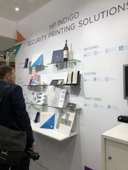 HP highlighted its security solutions.