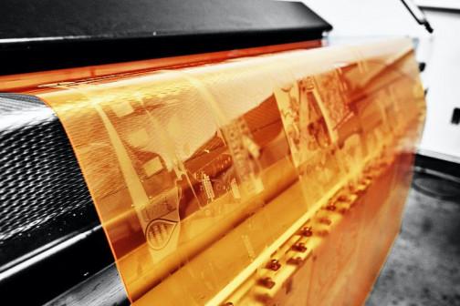 FLFLEXCEL NX plate on press.