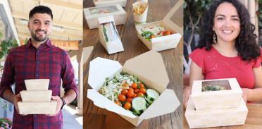 Tree-free compostable food packaging