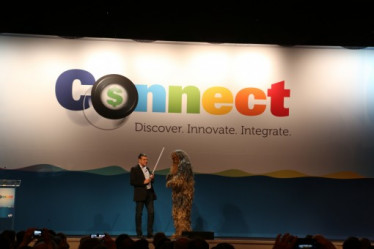 Chewbacca made a special appearance at EFI Connect during EFI CEO Guy Gecht's Star Wars themed keynote.