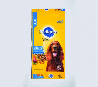 Pedigree Dog Food Bag, an entry from Coating Excellence International, won first place in the Flexible Packaging: Flexo (Process) category.