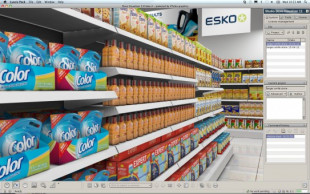 Studio Store Visualizer from Esko provides images of packaging in a simulated retail environment.