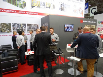 The Martin Automatic stand showcased a range of the company's technology and attracted interest from a diverse audience.