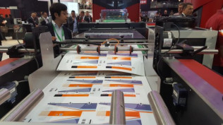 Digitally printed packaging on display in the Xeikon booth