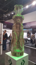 The Highcon Shape displayed its ability to produce 3D structures made entirely out of paper. The Shape is expected to be released by the next drupa.