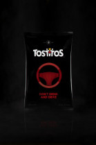The Tostitos Part Safe bag reveals a warning message if alcohol is detected on the user's breath.