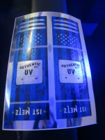 This LED UV-cured poster was printed on a seven-color Heidelberg CD 102 offset press during IST UV Days.