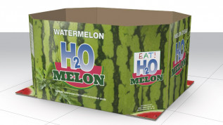 HP PageWide T1100S corrugated bins for H20 Melon watermelon