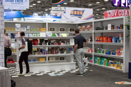 The 4,000-square-foot PRINTING United Experience Zone was a highlight of the expansive show floor.