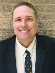Instructor Patrick Ruebensaal, the architect behind the CVCC Graphic Imaging Technology program.