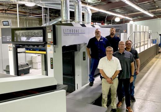 OlymPak has installed a new six-color, 40-inch Komori Lithrone GX40 press.